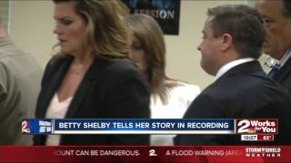 In her own words, the court watches a recording of Betty Shelby recounting shooing Terence Crutcher