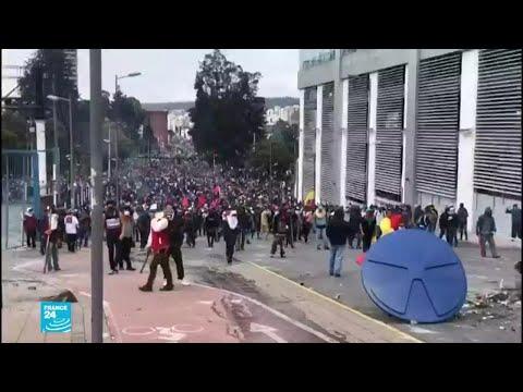 الإكوادور: فرض حظر التجول حول المؤسسات الحكومية بعد اقتحام متظاهرين البرلمان  - 13:55-2019 / 10 / 9