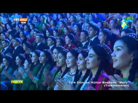 Turkmen president singing 2015 [Guinness record song]