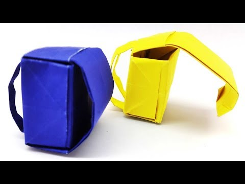 How To Make Origami School Bag  Backpack Diy Paper   Easy Tutorial