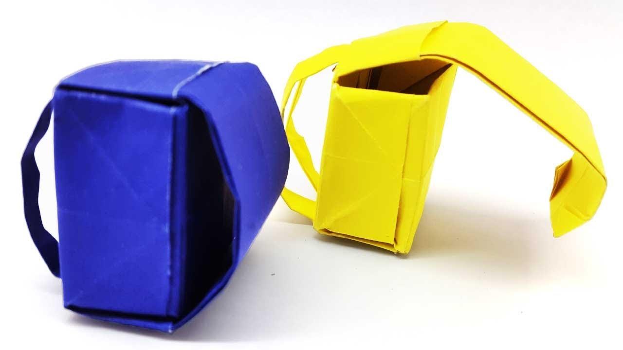 how to make origami school bag backpack diy paper easy