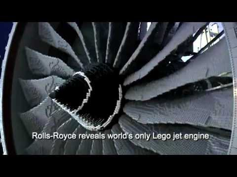 Rolls-Royce reveals world's only Lego jet engine