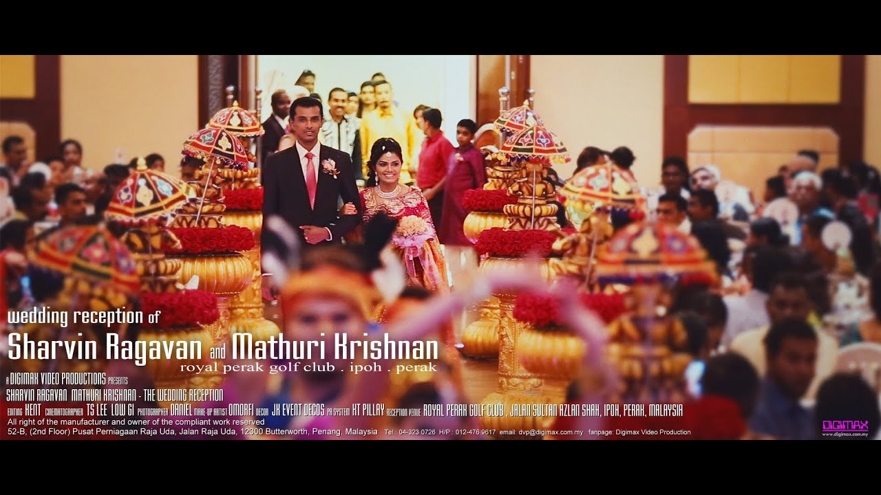 Wedding reception highlight of Sharvin & Mathuri @ Ipoh Royal Golf Club by  Digimax Video Productions