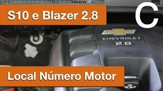 Dr CARRO Local Número Motor S10 e Blazer 2.8 GM