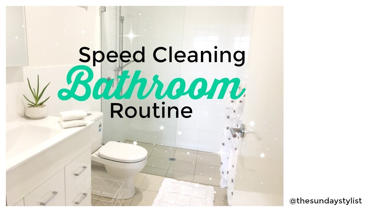 SPEED CLEAN WITH ME SUPER FAST BATHROOM CLEANING ROUTINE THE - Fastest way to clean a bathroom