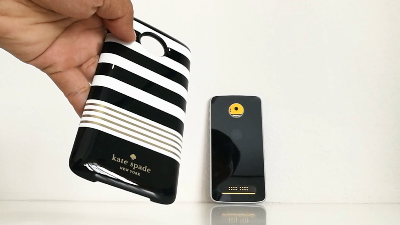 new concept 85dd6 925ab รีวิว Kate Spade New York Power Pack Wireless Charging Battery Case for  Moto Z