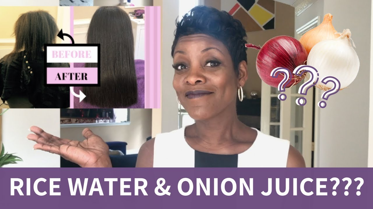 Here's How Rice Water & Onion Juice Can Help Your Hair Grow 😄
