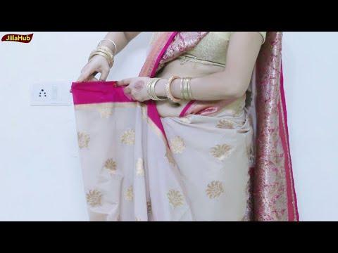 Aise kare sahi tareeke se Saree Pleats | Learn to wear Cotton silk Saree to get Proper Pleats Easily #1