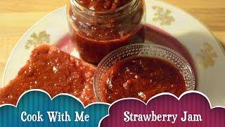 #Homemade strawberry jam   #StrawberryJam with 3 ingredients easy and quick recipe