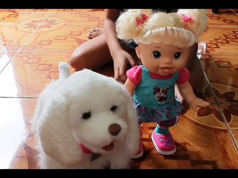 Baby Alive Doll And Furreal Friends Puppy My Walkin Pup