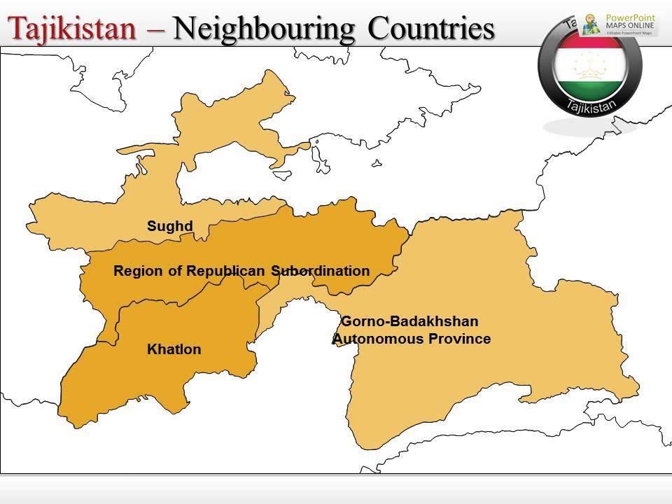 Customizable Map Of Tajikistan YouTube - Middle east map dushanbe