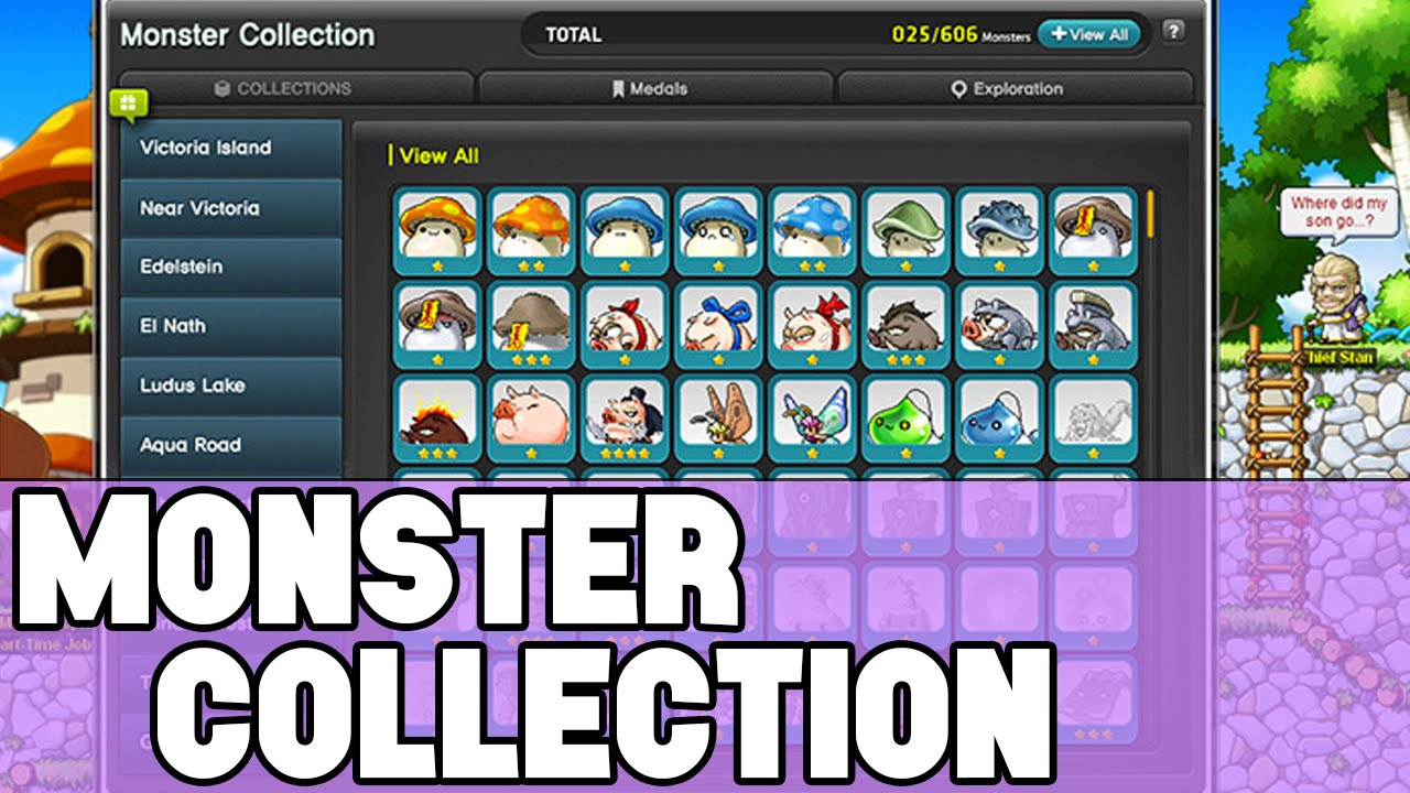 maplestory monster collection youtube