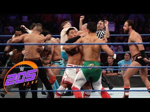 Captain's Challenge 10-Man Tag Team Elimination Match: WWE 205 Live, Aug. 20, 2019