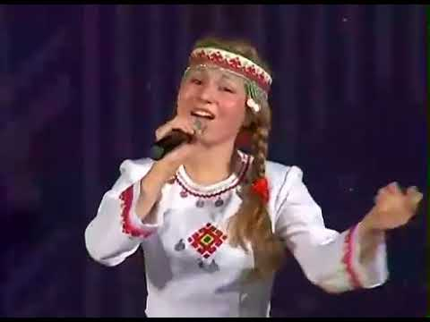Girl Singing Traditional Eastern European