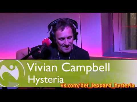 """Vivian Campbell (Def Leppard) Live performing """"HYSTERIA"""" on BBC Radio Ulster  11 November 2017"""