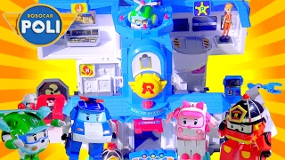 Robocar Poli Transforming Headquarter Playset