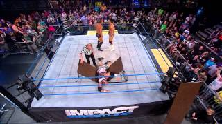 Repeat youtube video Tables Match: Willow and Bully Ray vs. Bobby Roode and EC3 (April 3, 2014)