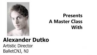 Alexander Dutko of BalletCNJ - ADVANCED POINTE - Ballet En Demand