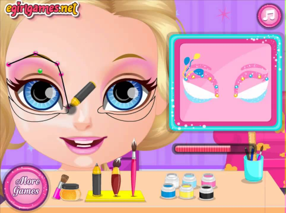 Baby Barbie Little Pony Face Painting - GIRLS BEST GAMES HD