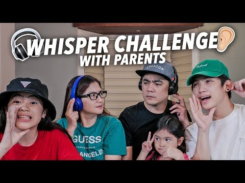 WHISPER CHALLENGE WITH PARENTS! (So Funny!) | Ranz and Niana