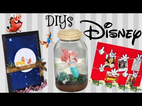 DIYs DISNEY: AQUÁRIO DA ARIEL, PAINEL DE FOTOS MICKEY E QUADRO EM 3D - Eduardo wizard