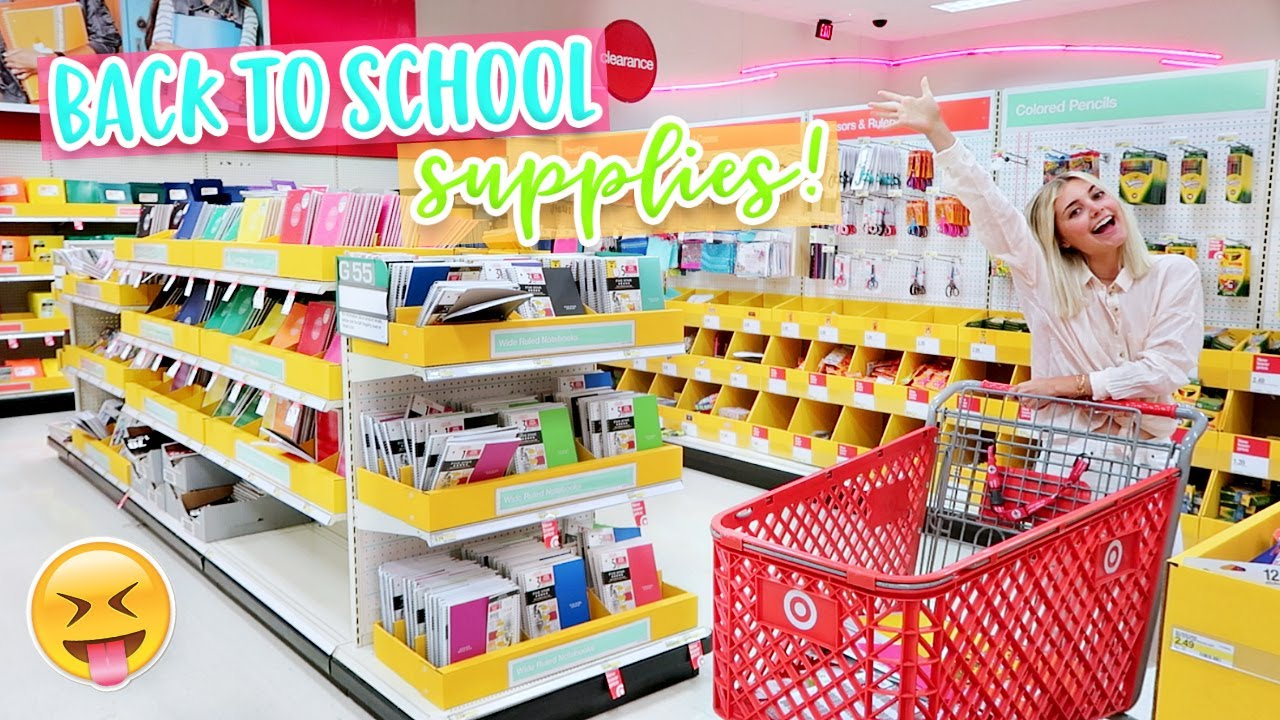 6b6f079996a BACK TO SCHOOL SUPPLIES SHOPPING! - YouTube