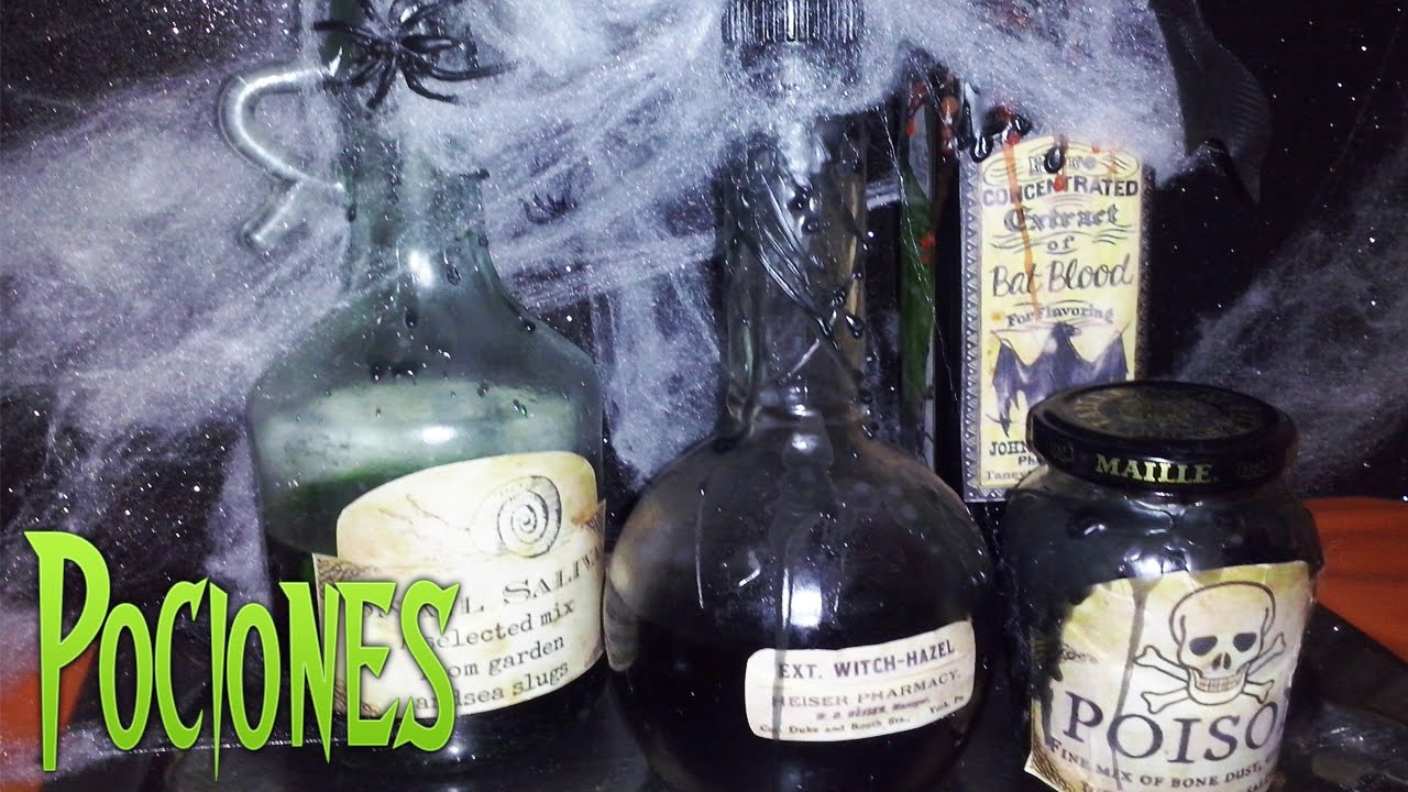 Botellas decoradas y centro de mesa para halloween youtube for Centros de mesa para halloween