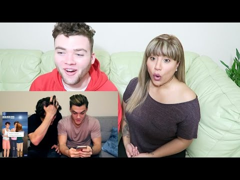 Dolan Twins-Reacting to Virtual Fan-Fiction REACTION!!