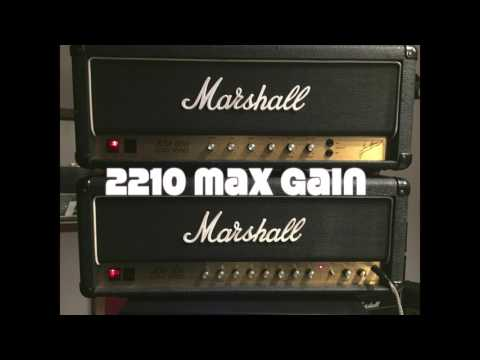 How much gain does a JCM800 have? 2203 vs 2210 ..max gain wo boost