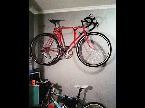 как сделать вешалку-крепление для велосипеда на стену / как подвесить велосипед на стену