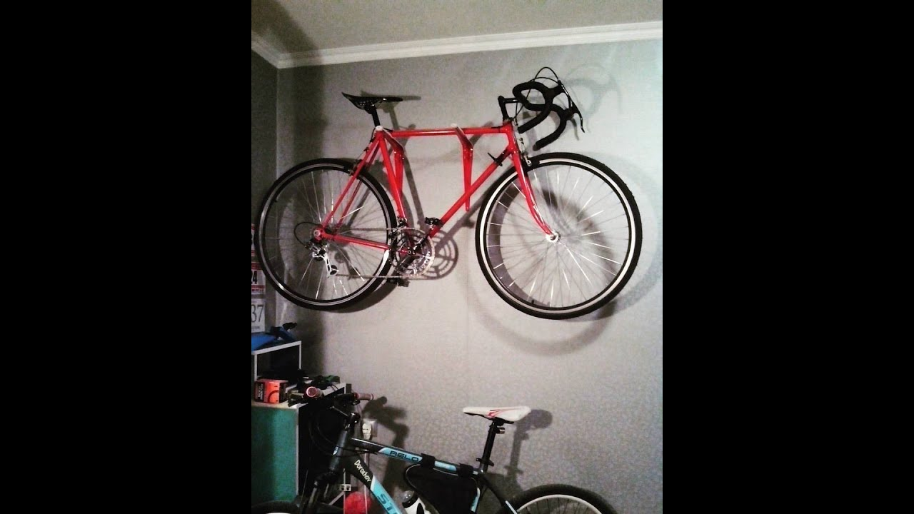 Держатель велосипеда на стену своими руками