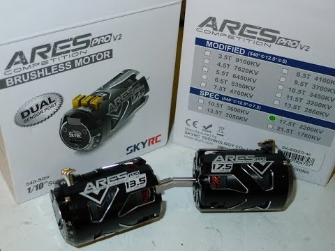 SkyRC Ares ProV2 Brushless motors  Spec and Mod  Minipro tests