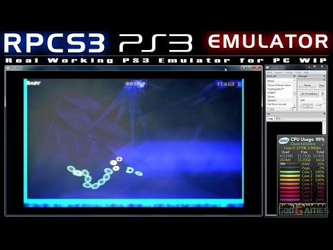 RPCS3 0.0.0.5 WIP First Working PS3 Emulator Qlione 1,2 Ingame 9-30 FPS!