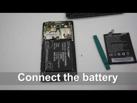 ACER Liquid E3 battery replacement || How to replace Cameron Sino battery CS-ACE380SL