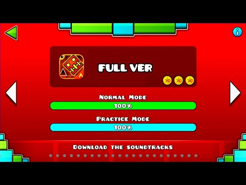 ALL FULL VER LEVEL OF GEOMETRY DASH MELTDOWN (All Coin) ♬ Partition
