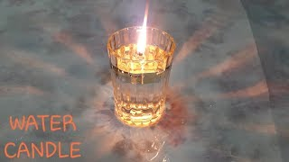 How To Prepare Water Candle | Making Candle With Water | Diy Fire On Water |