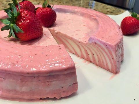 Торт без выпечки   КЛУБНИЧНЫЕ ОБЛАКА. Быстро,  Просто и Вкусно!  Strawberry cake