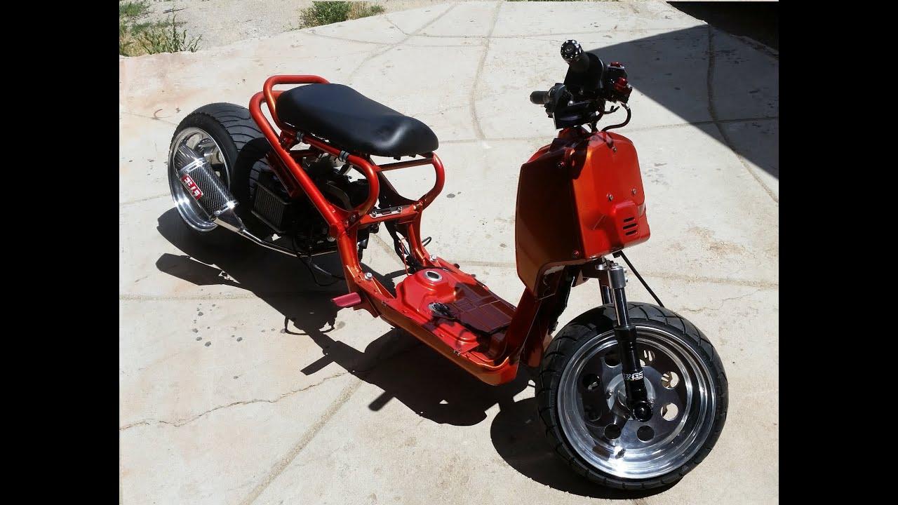 Assez Honda Ruckus custom build - YouTube UN68