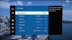 Samsung UE55JU7500 4K TV Calibrated Picture Settings