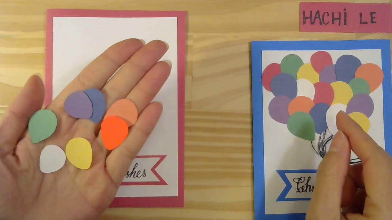 Cách làm thiệp sinh nhật siêu đẹp nhưng cực dễ – How to Make a Beautiful Card with Balloons