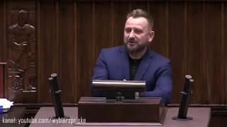 """Piotr Liroy-Marzec - """"ludzie nie są głupi"""" - o miliardzie dla TVP w sejmie"""