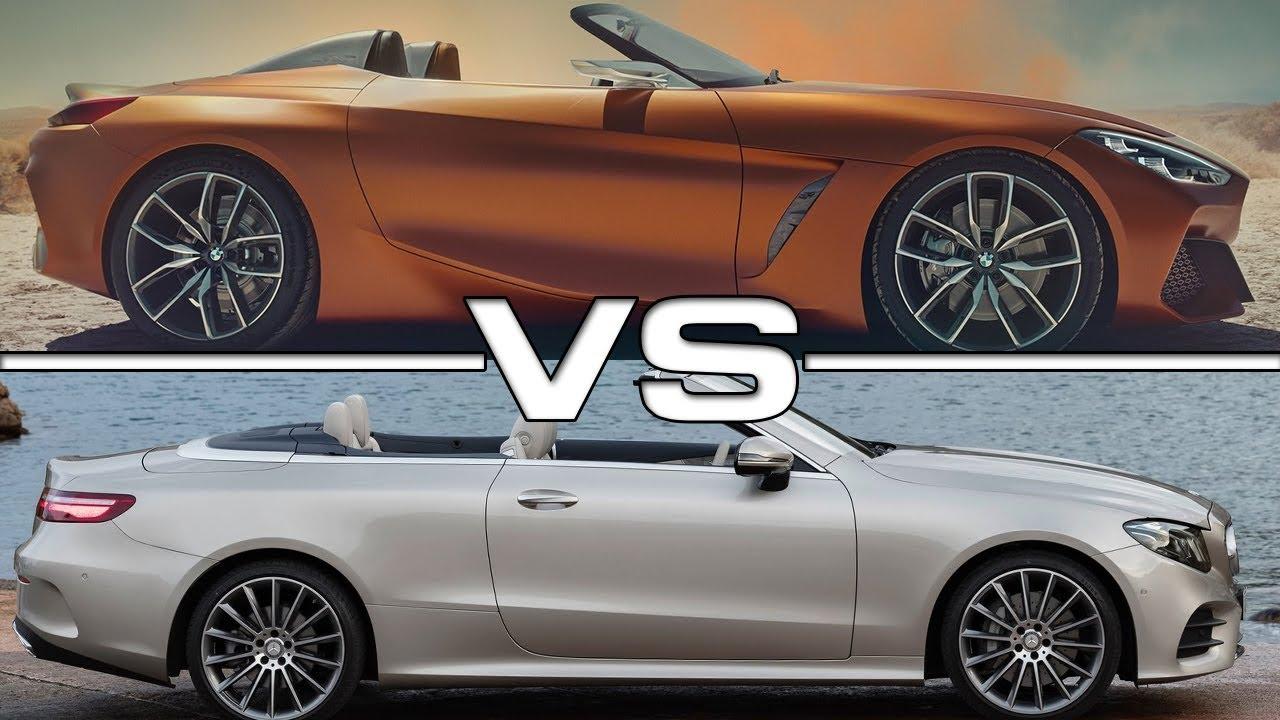 2018 bmw z4 concept vs 2017 mercedes e class cabriolet youtube. Black Bedroom Furniture Sets. Home Design Ideas