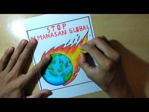 Cara Membuat Poster Stop Global Warming Mudah Sekali Youtube
