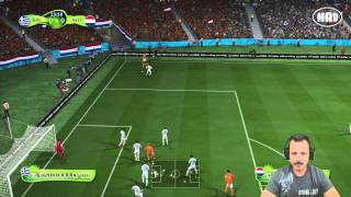 FIFA 14 PS4 World Cup Mode Greece Vs Holland Live Gameplay