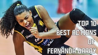 Top 10 Best Actions of Fernanda Garay by Danilo Rosa | Praia Clube 17/18