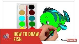 How to Draw Fish Only Kids TV