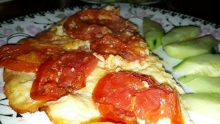 Sahur menyusu #10. Omlet. Pendirli, pomidorlu omlet. #XoşGəldinRamazan