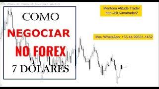 COMO NEGOCIAR NO FOREX | Análise 7 Dólares - Vídeo 75 de 365
