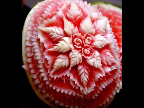 FRUIT CARVING WITH SINGLE CARVING KNIFE EASY METHOD