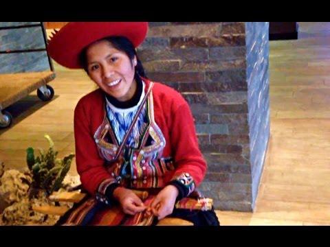 Native Inca Weaving In Cusco, Peru